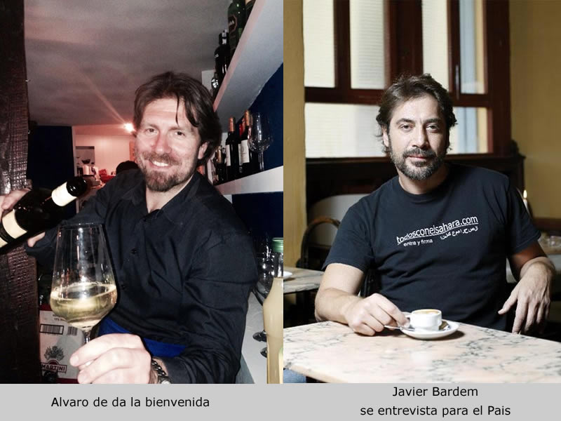 Alvaro Arribas, Javier Bardem, cafe Belen