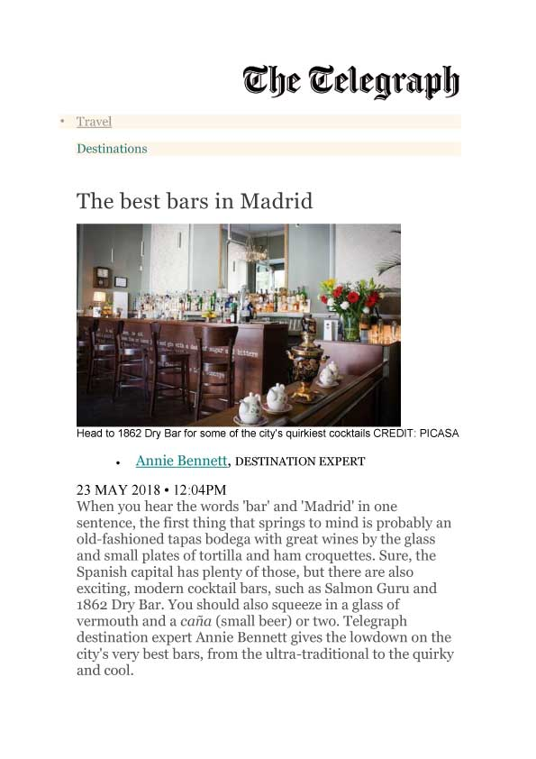 The telegraph, best bars